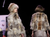Fall 2011 fashion from Anna Sui is modeled during Fashion Week in New York Wednesday.