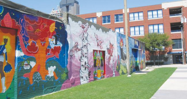 Outside the bubble graffiti art brings color and culture for Dallas mural artists