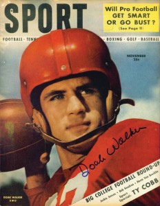 Walker's college career was briefly interrupted after he was drafted in the U.S. Army in 1946.  (Courtesy of heismanheroes.com)