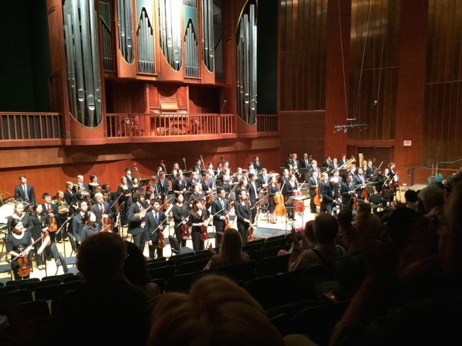 Meadows Symphony Orchestra takes the stage, with a little help