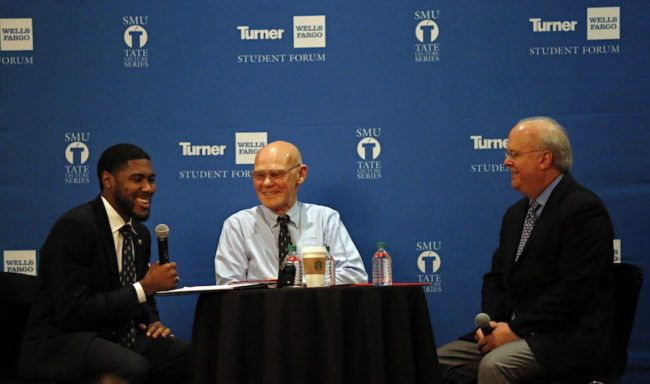 Final Tate Lecture of year features Karl Rove, James Carville