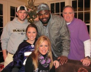The Tuohy family (from left to right): SJ, Michael, Sean, Collins and Leigh Anne. Photo credit: Pintrest