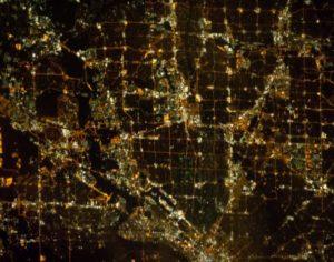 Dallas at night. View from Expedition 33 NASA Photo credit: Flickr & Nasa