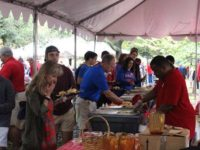 Family members visiting usually means free food for students. Photo credit: Student Foundation Facebook account
