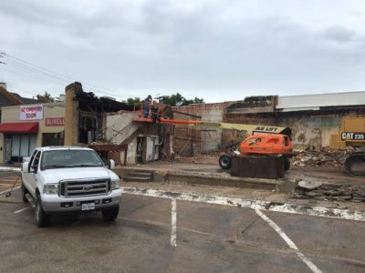 The remains of Goff's Hamburgers in University Park after the fire. Photo credit: Olivella's Facebook