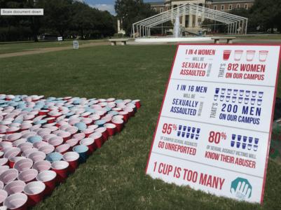 Shocking national statistics about sexual assaults. Photo credit: Kara Fellows