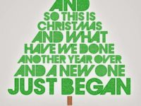 John Lennon's Happy Christmas song lyrics. Photo credit: Pinterest