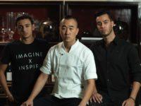Brandon Cohanim, Chef Jimmy Park and Francois Reihani. Photo credit: Pōk The Raw Bar