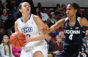 Mustangs drop third straight, UConn sets new consecutive wins record