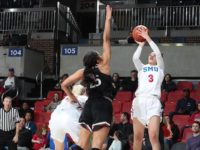 McKenzie Adams scored team high 15 points against UCF last Saturday. Photo credit: SMU Athletics