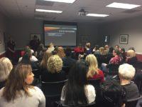 "Women pack into body image workshop,""Can You See Me?""in Hughes Trigg. Photo credit: Lauren Winterhalder"