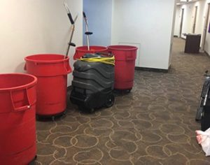 Ware, Armstrong Commons flood due to sprinkler pipe breakage