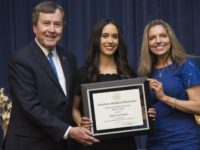 de Toledo awarded the Presidential Award of Excellence. Photo credit: SMU Athletics