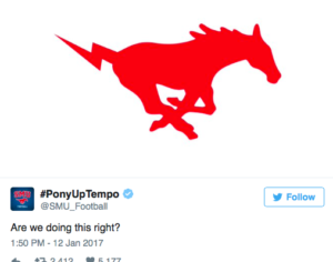 One of @SMU_Football's most popular tweets to date