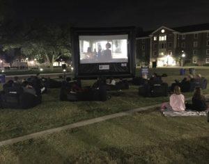 Movie screening on the SMU lawn. Photo credit: Takia Hopson