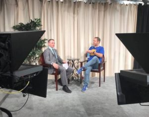 Culture critic Chris Voguer speaks with SMU TV's Jesse Carr on the arts culture in Dallas. Photo credit: Jesse Carr