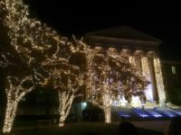 Dallas Hall lights. Photo credit: Hayden Hickingbotham