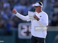 Chad Morris has left SMU for Arkansas. Photo credit: Getty Images