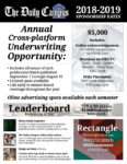 Advertising and sponsorship rate sheet