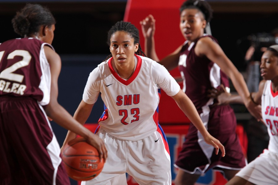 Keena Mays' 691 points in the 2013-14 set a new SMU record for points scored in a single season. (Courtesy of SMU Athletics)