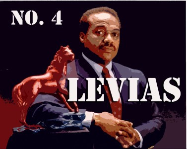 LeVias won the Kiwanis Club Award for Sportsmanship and was Most Valuable Player in the Senior Bowl in 1969. (Illustration by Demetrio Teniente / Photo courtesy of fanphobia.net)