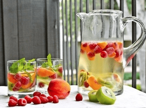 Slim down and hydrate with infused water