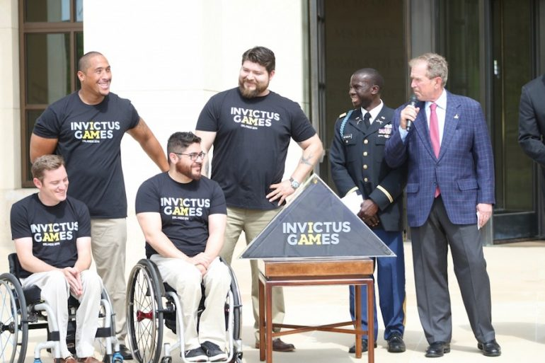 president george w bush dubbed honorary chairman of the invictus