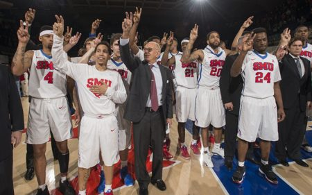 Larry Brown led SMU basketball to its first conference title since 1993. Photo credit: SMU Photos
