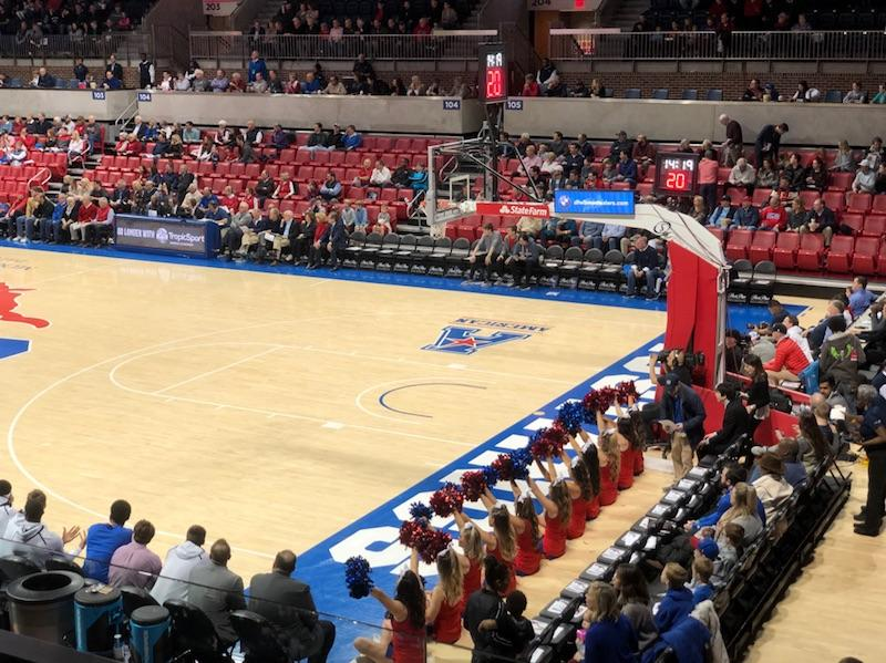 A look into basketball games from SMU Cheer's perspective