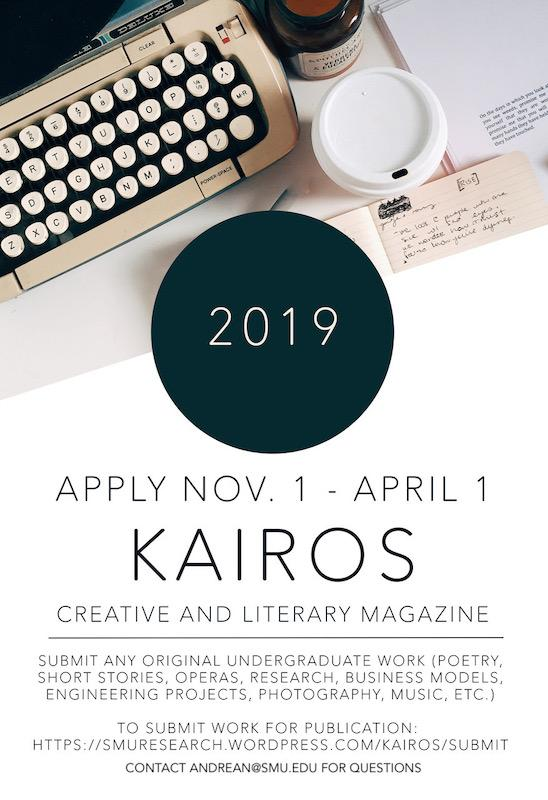 SMU undergraduate research and creative arts journal welcomes submissions