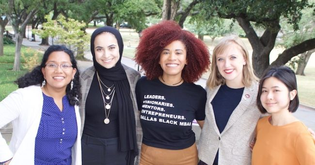 Sanaa with members of the Human Rights program.