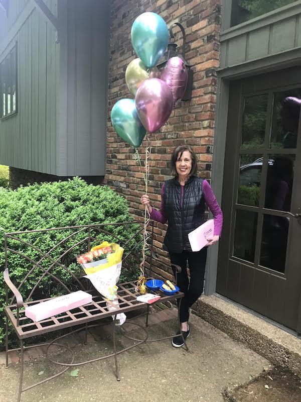 Dena Williamson on April 22, celebrating her 79th birthday.