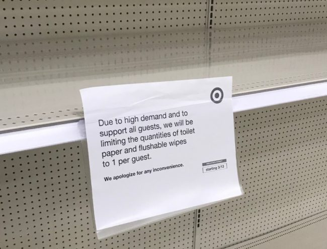 Grocery stores around the country are running out of household essentials.