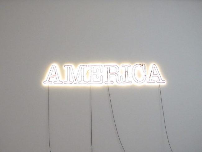 """""""America by Glenn Ligon"""" by lynn dombrowski is licensed under CC BY-SA 2.0"""