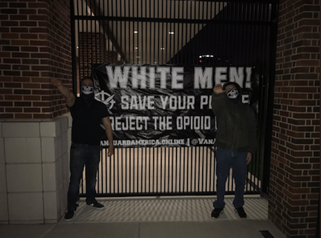A picture of the white supremacists at SMU in 2017