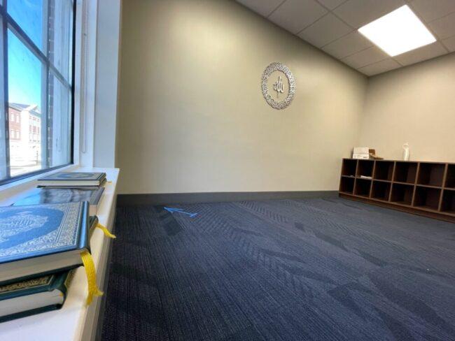The Muslim Prayer Room in Hughes-Trigg.