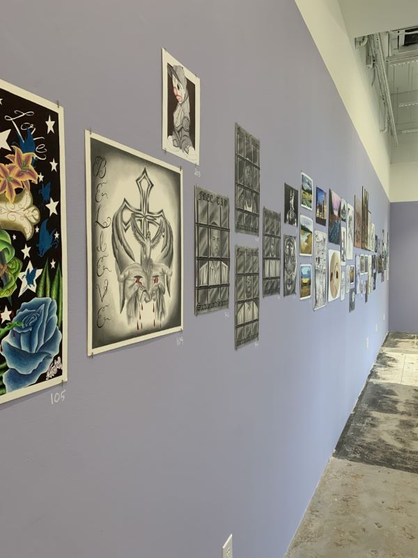 Collection of paintings and drawings in the curation